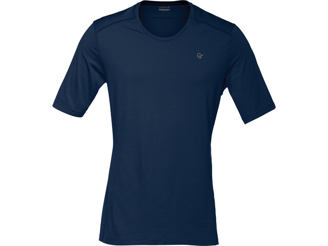 Norrøna Wool T-Shirt Men Indigo Night/Scarlet Ibis
